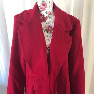 Vintage Mario de Pinto red 80% wool coat
